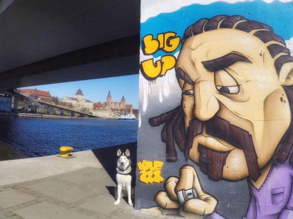 Bulwary Szczecińskie, street art