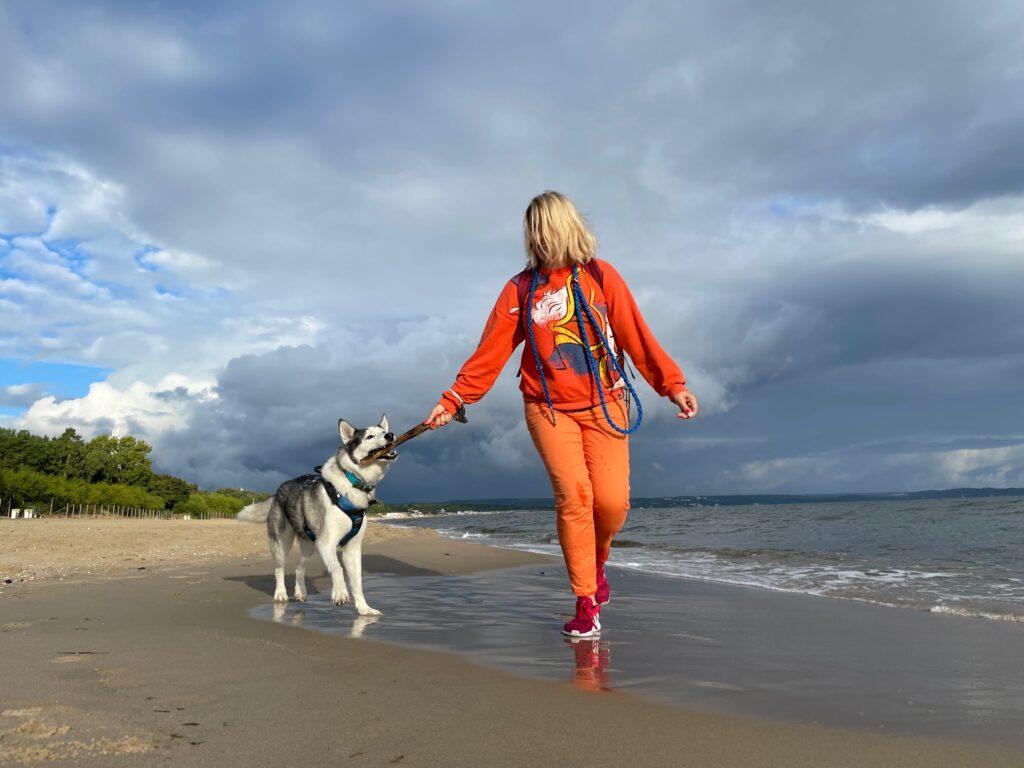 Psia plaża w Gdańsku Brzeźnie